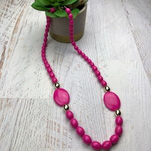 Vintage Pink Hold Beaded Necklace
